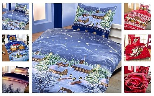 Winter Kuschel Flausch Fleece Bettwäsche Weihnachten Designs X Mas