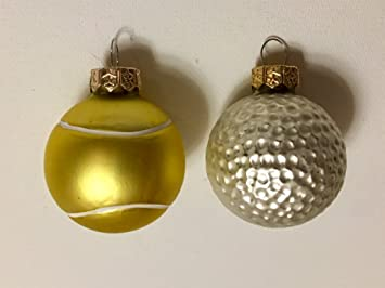 2 piece golf and tennis christmas ornaments sports hobbies holiday michaels - Michaels Christmas Ornaments
