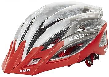 KED Fahrradhelm Wayron Visor L 57-61cm White Black Red maxSHELL Made in Germany
