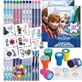 Birthday Party Favor Set for 12-12 Frozen Pencils, 16 Frozen Tattoos, 24 Frozen Stickers, 12 Snowflake Stampers