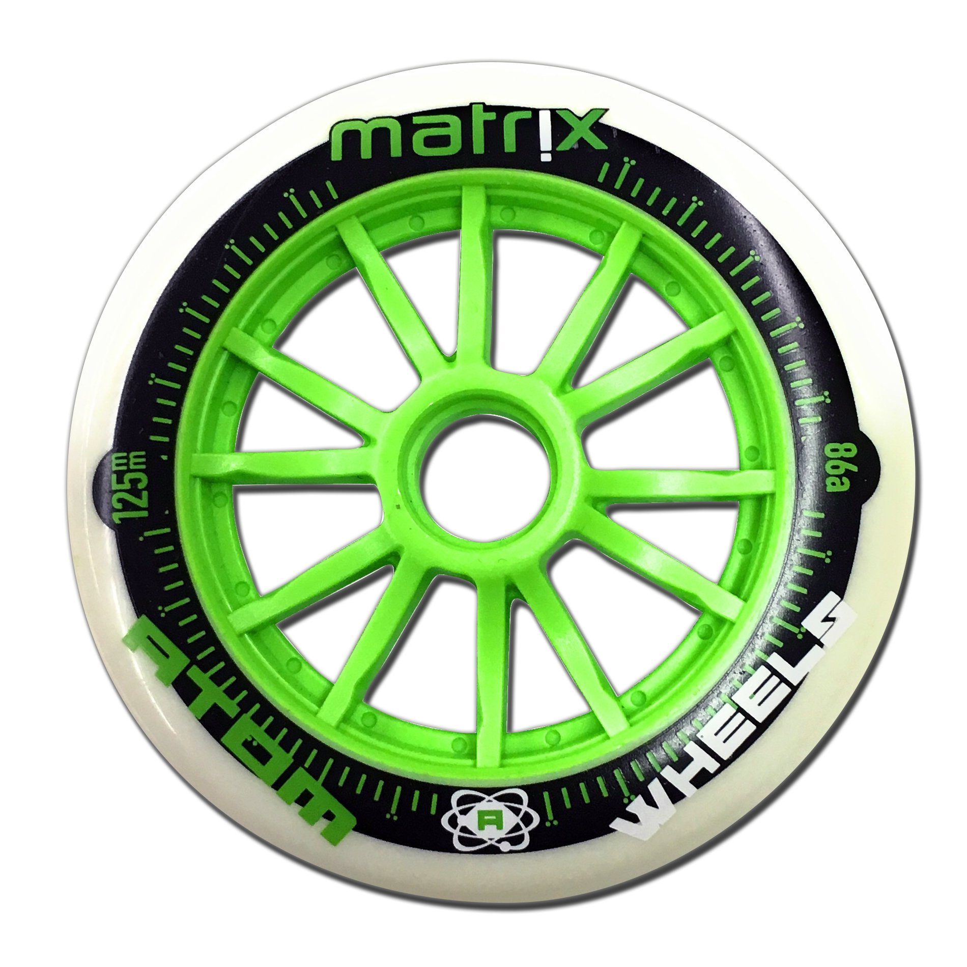 Atom Matrix Wheel Outdoor Wheel Green 125mm