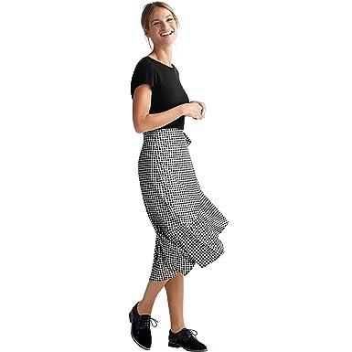afd1238f3 Ellos Women's Plus Size Print Wrap Skirt at Amazon Women's Clothing ...