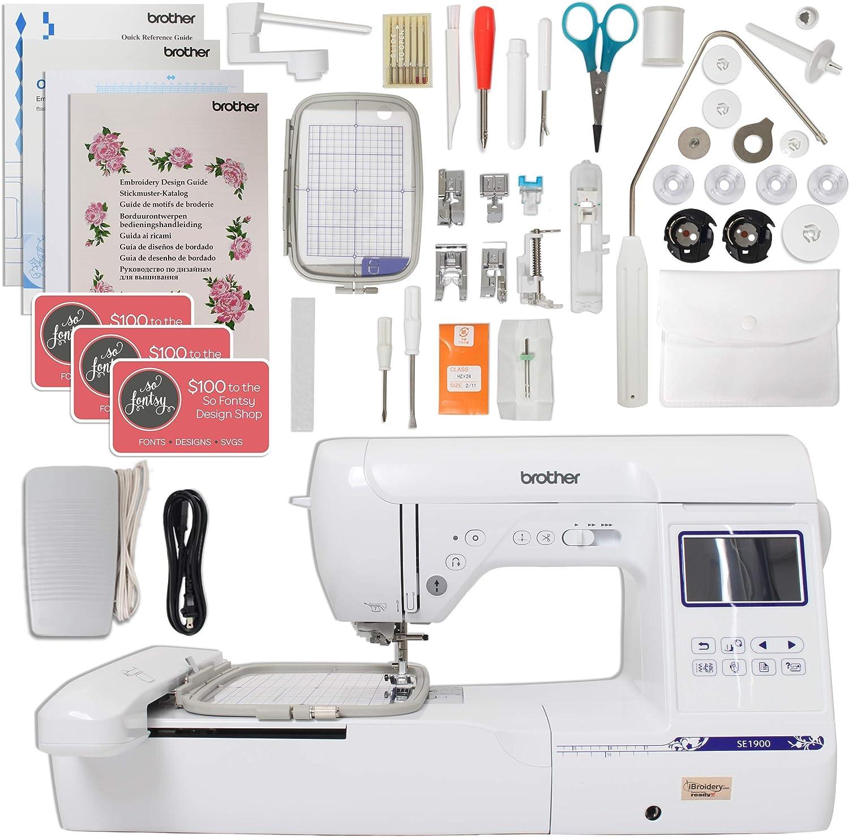 Brother SE1900 Combo de máquina de coser y bordar con campo de ...