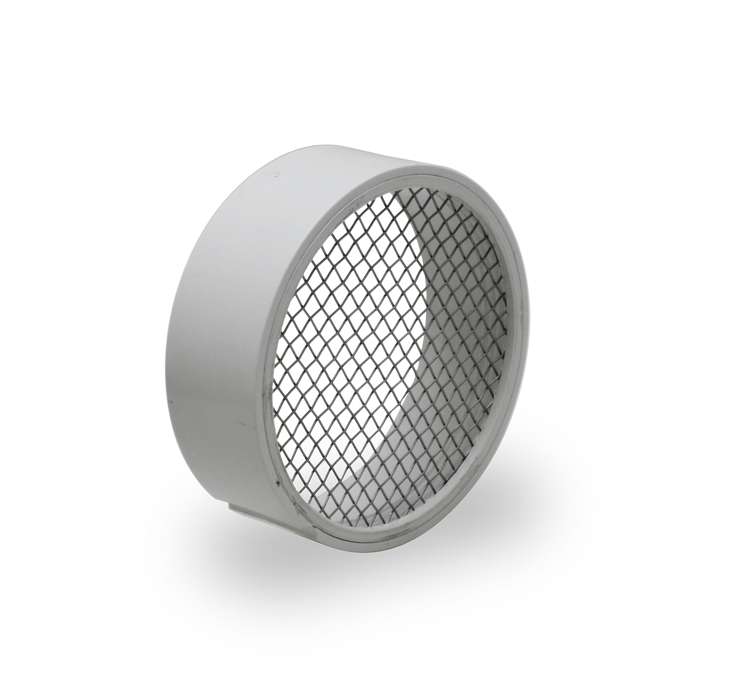 Raven R1510 PVC Termination Vent with 304 Stainless Steel Screen, 4 Inch, Slotted Side for Condensation to Drain, Durable, Easy to Install in Hub of PVC Fitting, Maximum Airflow