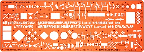 Metric Electrical and Electronic Installation Symbols Drawing Template  Stencil – Engineering Drafting Supplies – Layout Plan Schematic Wiring by  Standardgraph: Amazon.de: Küche & Haushalt | Hvac Wiring Diagram Symbols Stencils |  | Amazon.de