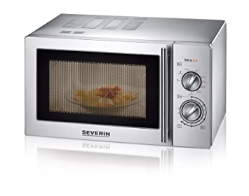 Severin MW 7869 - Microondas con grill, acero inoxidable mate, 900 W, color