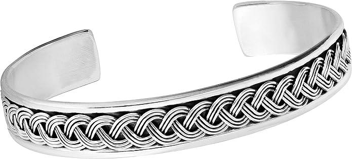 Bracelet en argent sterling Bracelet en argent sterling 925/massif pour homme Bracelet