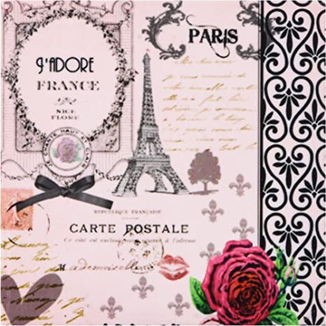 Pink rose and black swirls set