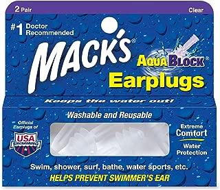 product image for Mack's AquaBlock Earplugs - Clear - (4 Pair)