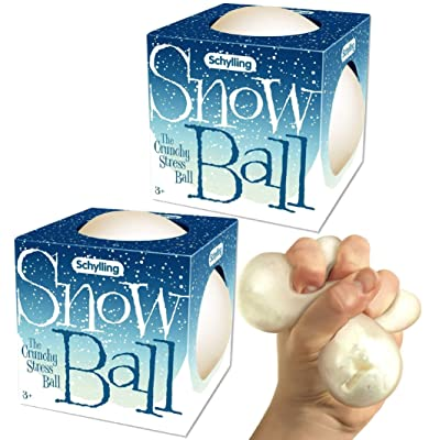 Schylling Snow Ball (NeeDoh) Crunchy, Squishy, Squeezy, Stretchy Stress Balls Gift Set Bundle - 2 Pack: Toys & Games