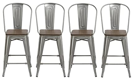 Brilliant Btexpert 24 Industrial Clear Metal Vintage Antique Style Stools Squirreltailoven Fun Painted Chair Ideas Images Squirreltailovenorg