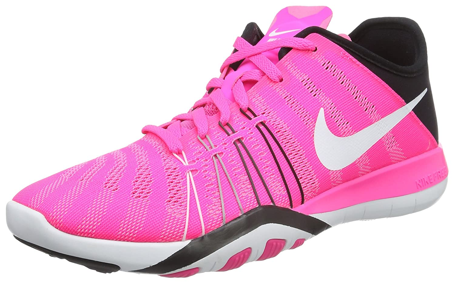 Womens Nike Free TR 6 Training Shoes B014GMYJOU 8.5 B(M) US|Pink Blast/Black/White
