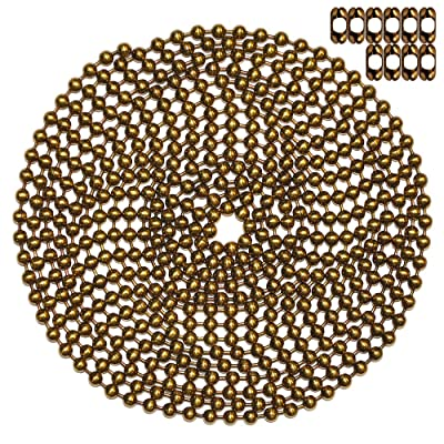 10 Foot Length Ball Chain, Number 10 Size, Antique Brown, 10 Matching 'B' Couplings: Arts, Crafts & Sewing