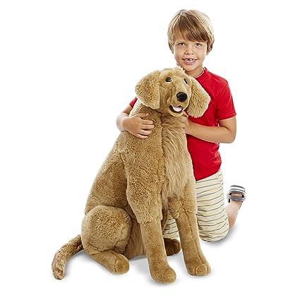 Amazon Com Melissa Doug Giant Golden Retriever Lifelike Stuffed