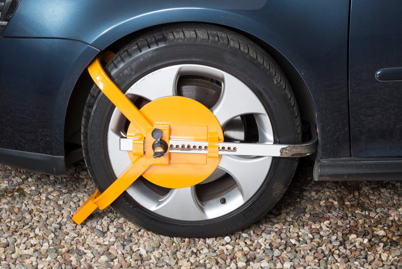 ideal para coches Auto Companion Cepo antirrobo reforzado para llantas con cobertura total de la superficie caravanas y remolques