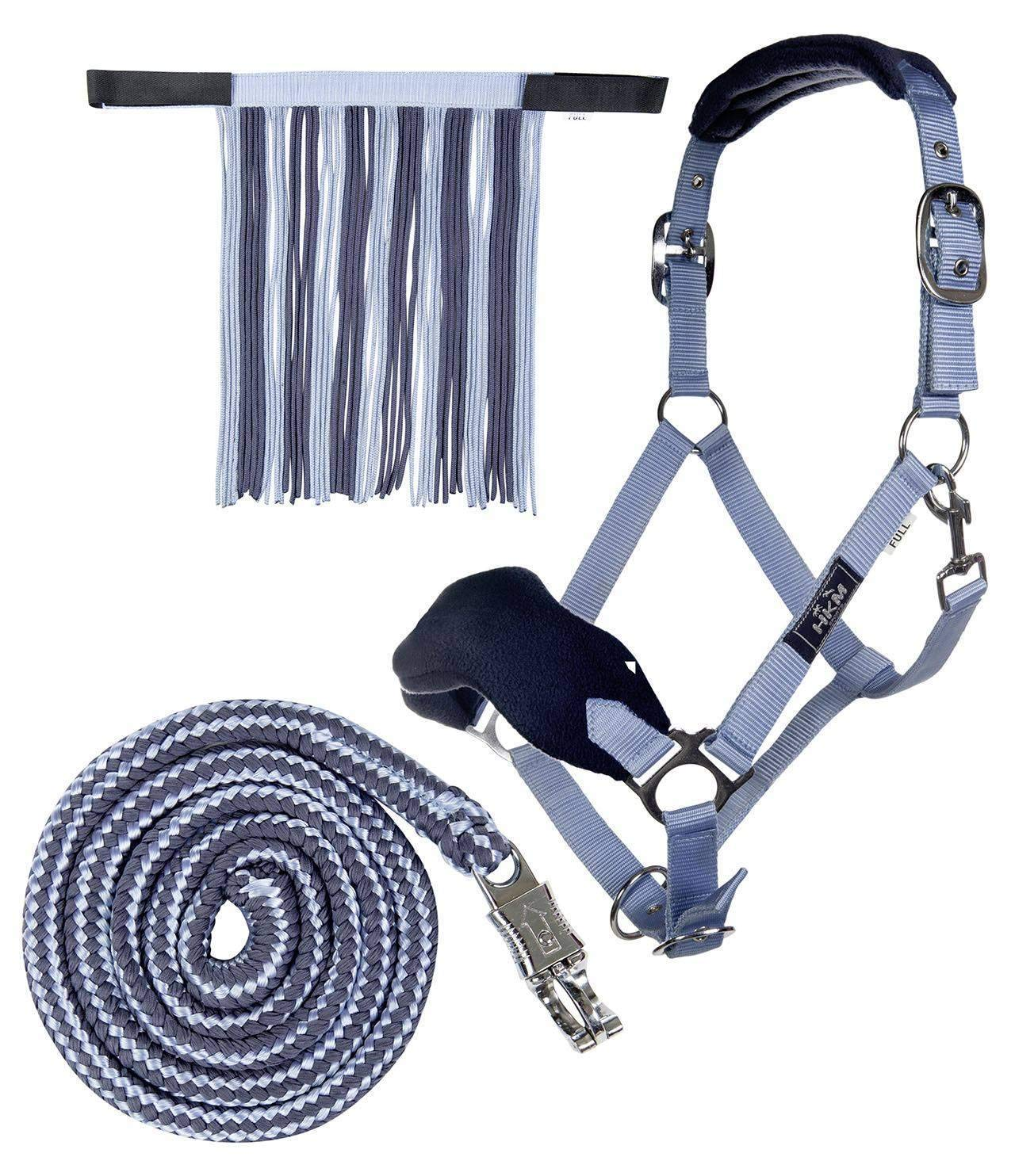 HKM Sports Equipment HKM Headcollar with Rope PANIC /& with Fly Fringe