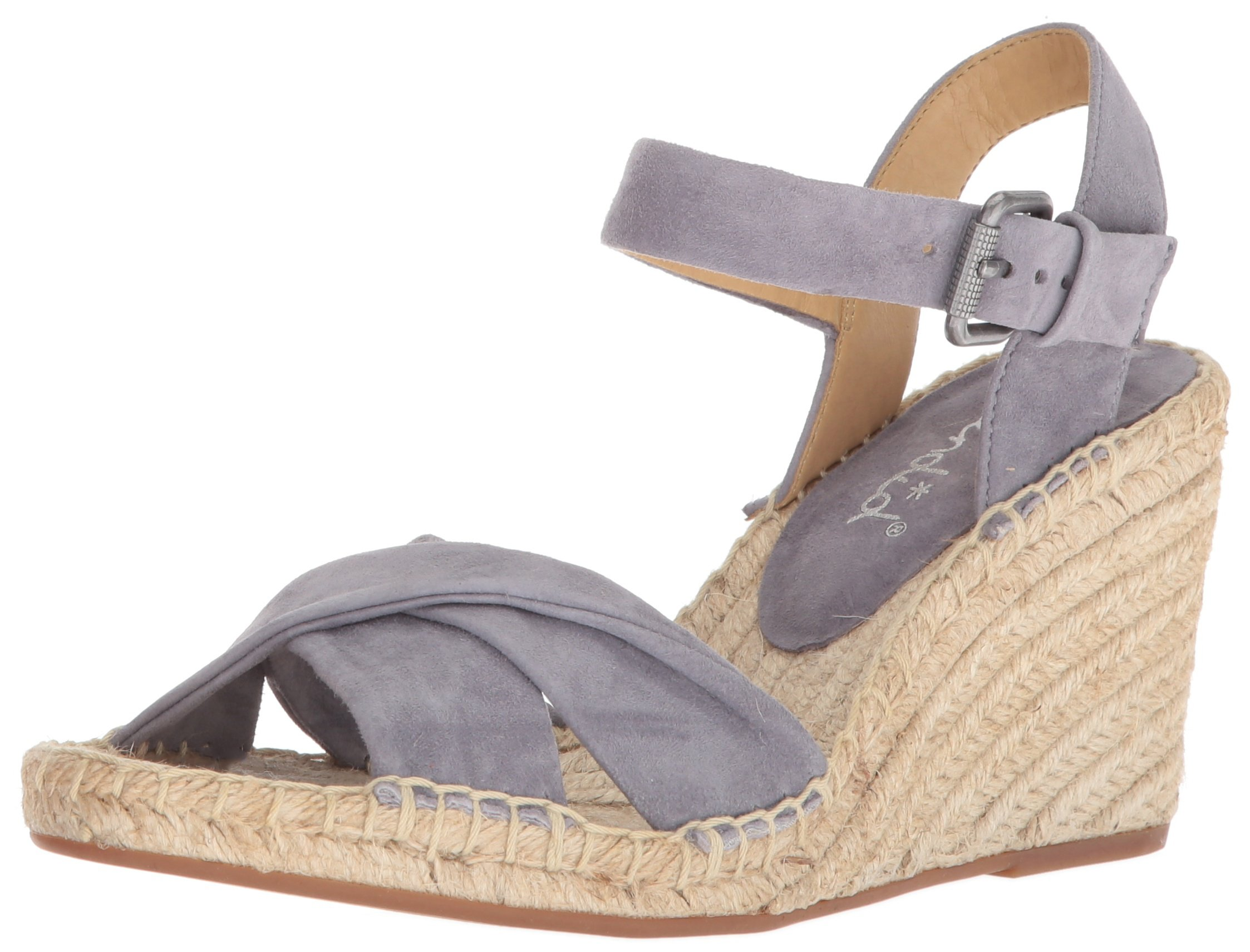 Splendid Women's Fairfax Espadrille Wedge Sandal, Grey, 8 Medium US