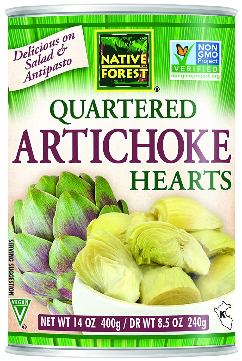 B000F4D50I Native Forest Artichoke Hearts Quartered, 14 Ounce Cans (Pack of 6) 81GHl-ua3tL