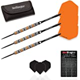 Red Dragon Amberjack 6: 25 gram - 90% Tungsten Steel Darts with Flights, Shafts, Wallet & Red Dragon Checkout Card
