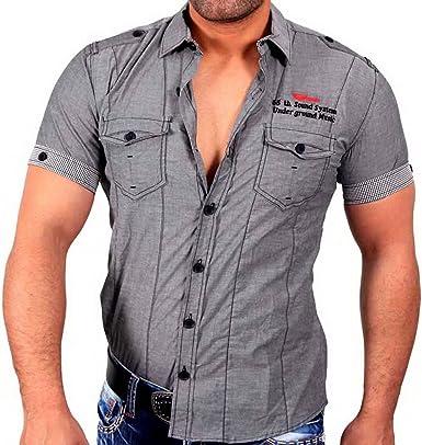 SCORE Polo para hombre Japan Style Camisa de manga corta camiseta de gris 423: Amazon.es: Ropa y accesorios