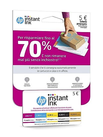 HP Instant Ink Enrollment Card suscripción para servicio de ...