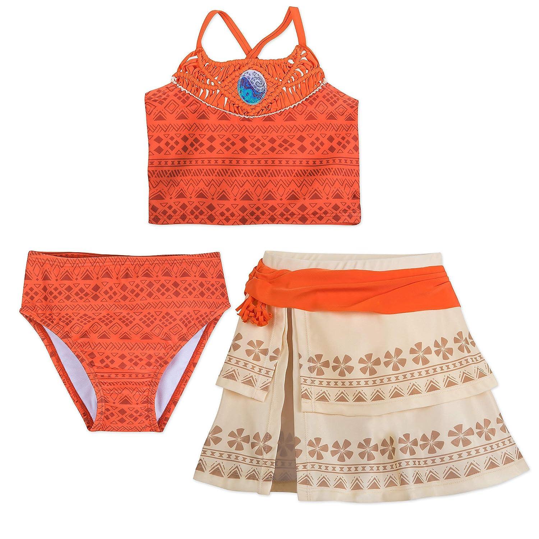 f7e93dabfc383 Amazon.com: Disney I Am Moana 3-Piece Deluxe Swimsuit for Girls Orange:  Clothing