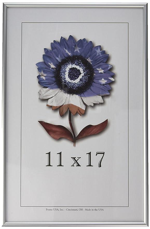 Amazon.de: 11 x 17 Metall Bilderrahmen W/plexi-glass, Aluminium ...