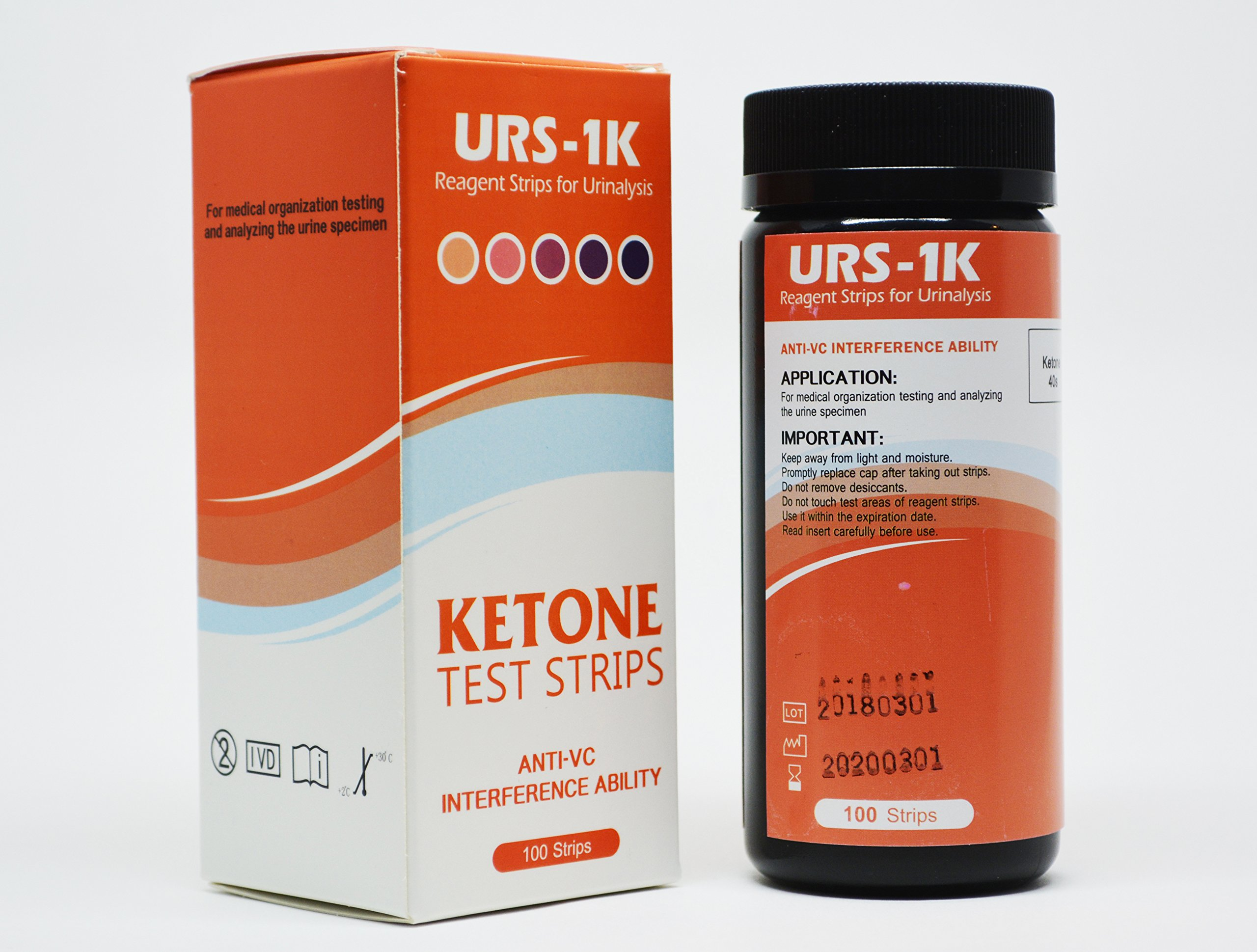 Ketone Test Strips for Ketogenic or HCG Diet - FRESH STOCK - Accurately Measure Your Fat Burning Ketosis Levels in Seconds -100 Strips - 1 pack - 2 pack - 3 pack - 5 pack - 10 pack (Pack of 10) by TH-URS-1K