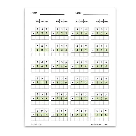 Amazon.com : Channie's One Page A Day Triple Digit Math Workbook ...