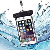 防水ケース スマホ用 IPX8認定 ViViSun 透明パック 6インチ以下 全機種対応 高感度PVC タッチスクリーン ネックストラップ付属 防水ポーチ
