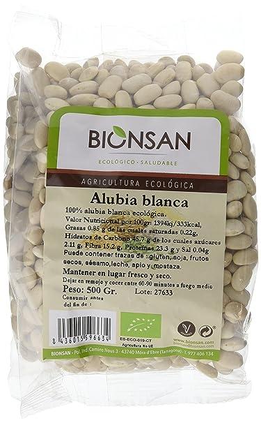 Bionsan Alubia Blanca Ecológica - 6 Bolsas de 500 gr - Total: 3000 ...