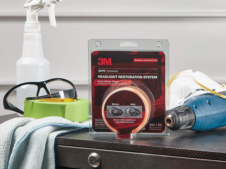 3M 39008 Heavy Duty Kit Headlight Lens Restoration System 39173 Quick Headlight Clear Coat