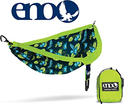 Portable Hammock for Two Eagles Nest Outfitters DoubleNest Print ENO Geo//Orange