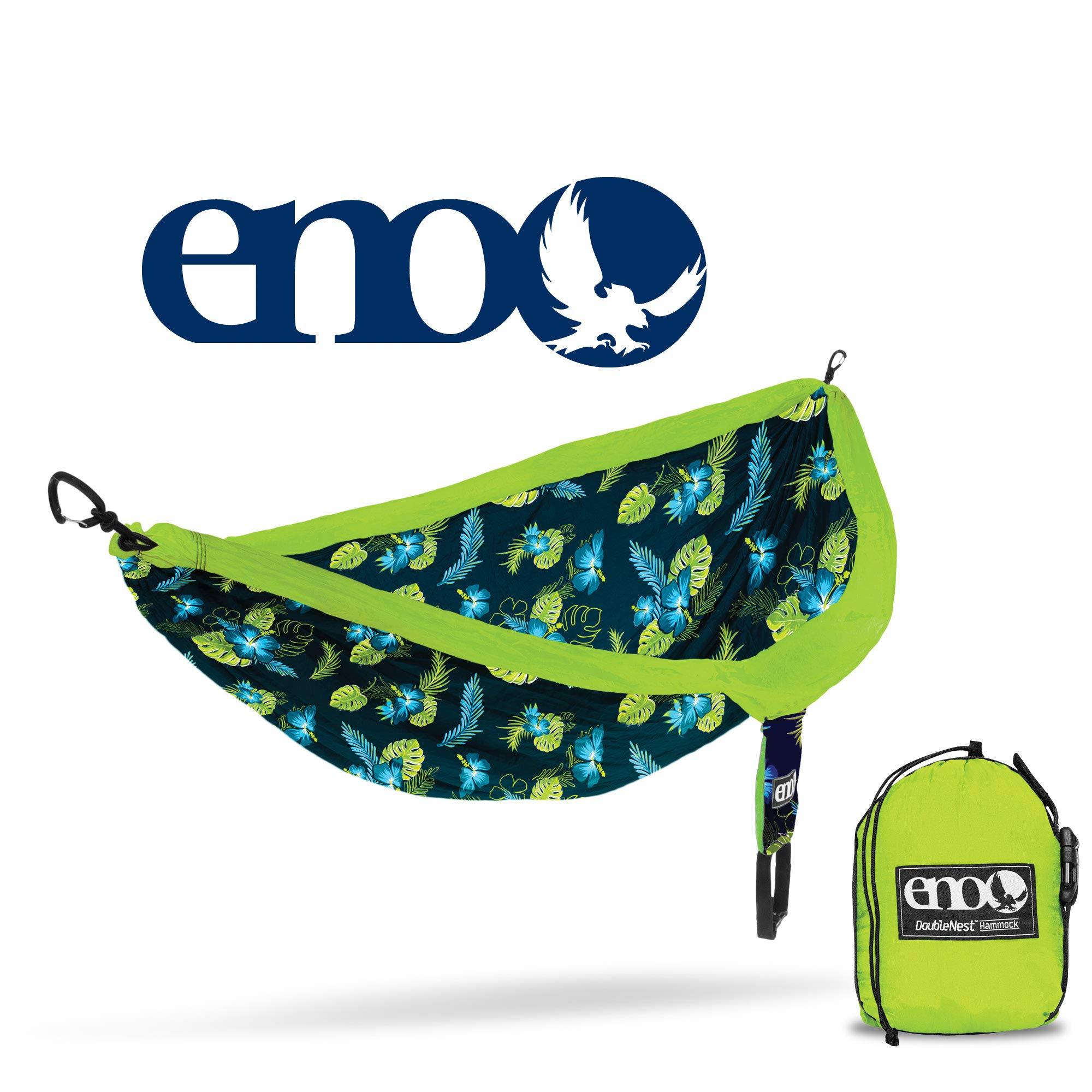 ENO - Eagles Nest Outfitters DoubleNest Print Portable Hammock for Two, Green Aloha