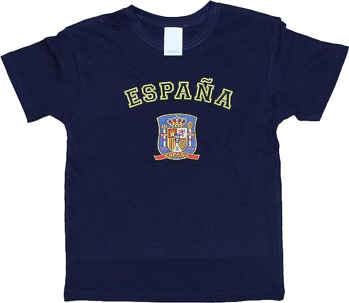 I MADRID I LOVE MADRID Camiseta Algodón Infantil - España - Escudo Oficial Bordado: Amazon.es: Ropa y accesorios