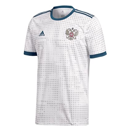93a380036d5 Image Unavailable. Image not available for. Color  adidas 2018-2019 Russia  Away Football ...
