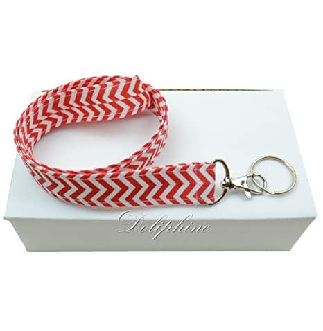 Amazon.com: Caja de 8 Wave Fabric cuello Chevron Lanyards ...
