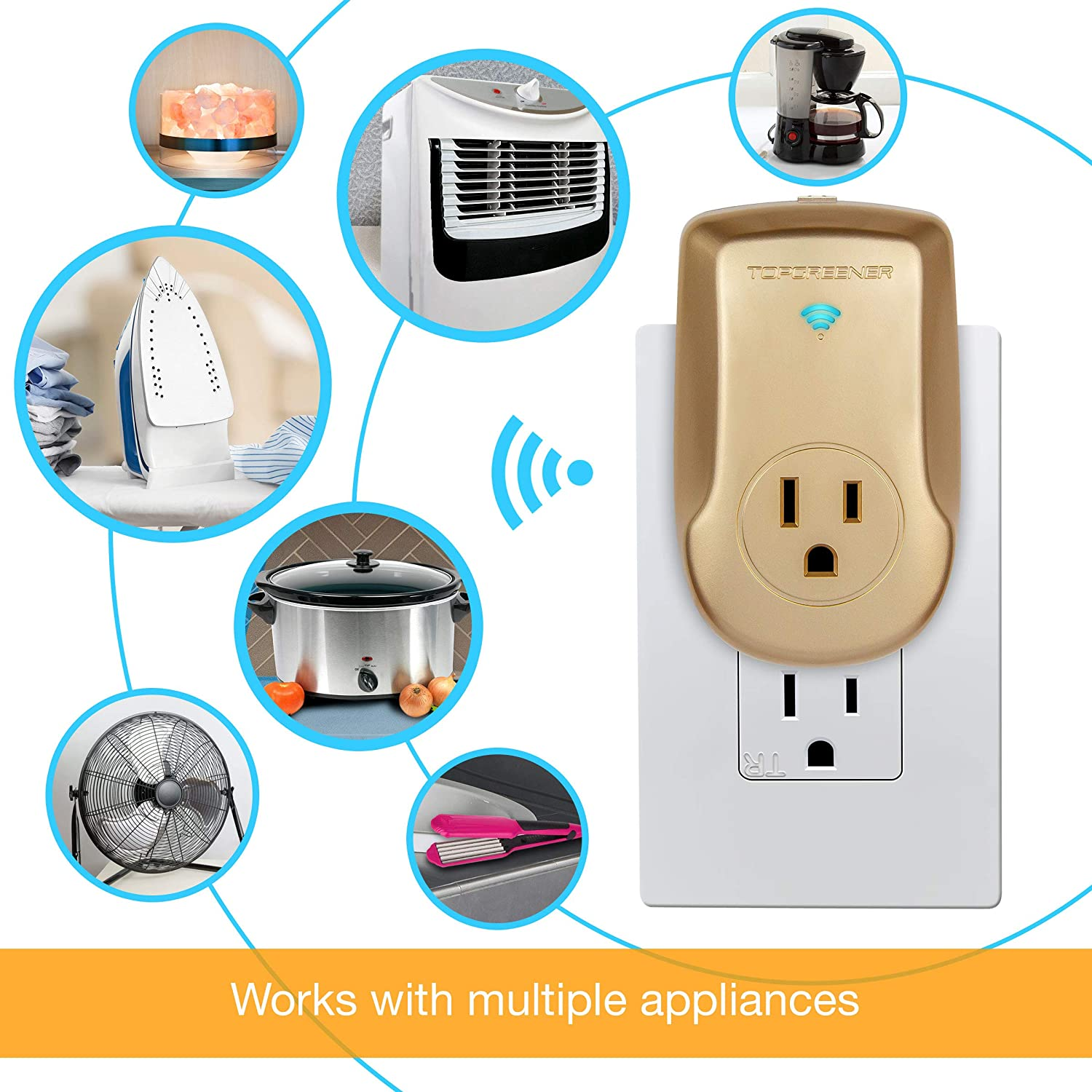 Topgreener Smart Wi Fi Powerful Plug With Energy Monitoring Can Your Electrical Outlets Protect Against A House Fire Outlet 15a Control Lights And Appliances From Anywhere No Hub Required