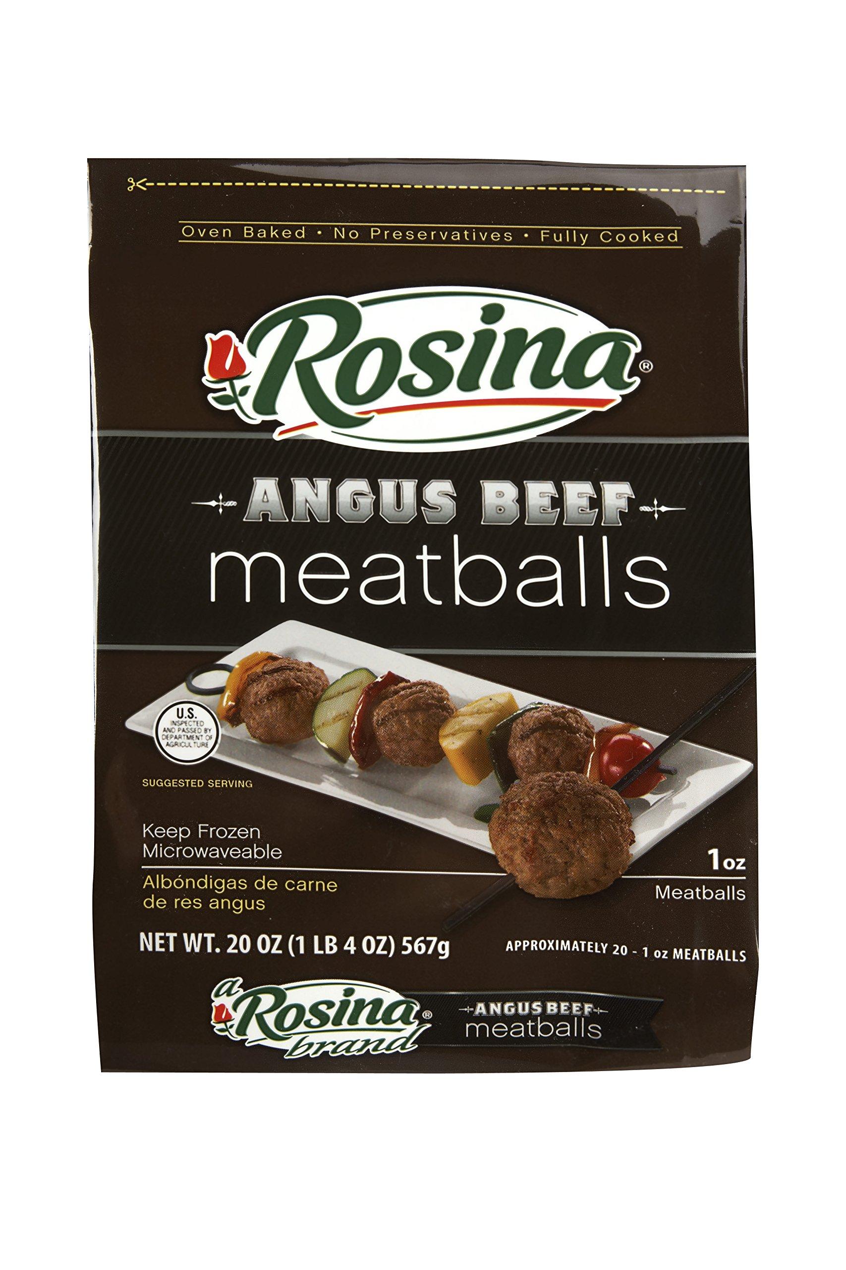 Rosina Angus Beef Meatballs, 20 oz., (8 per case)