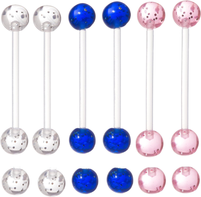 New PTFE flexi PREGNANCY maternity BELLY BAR clear glitter disco ball flexi SALE