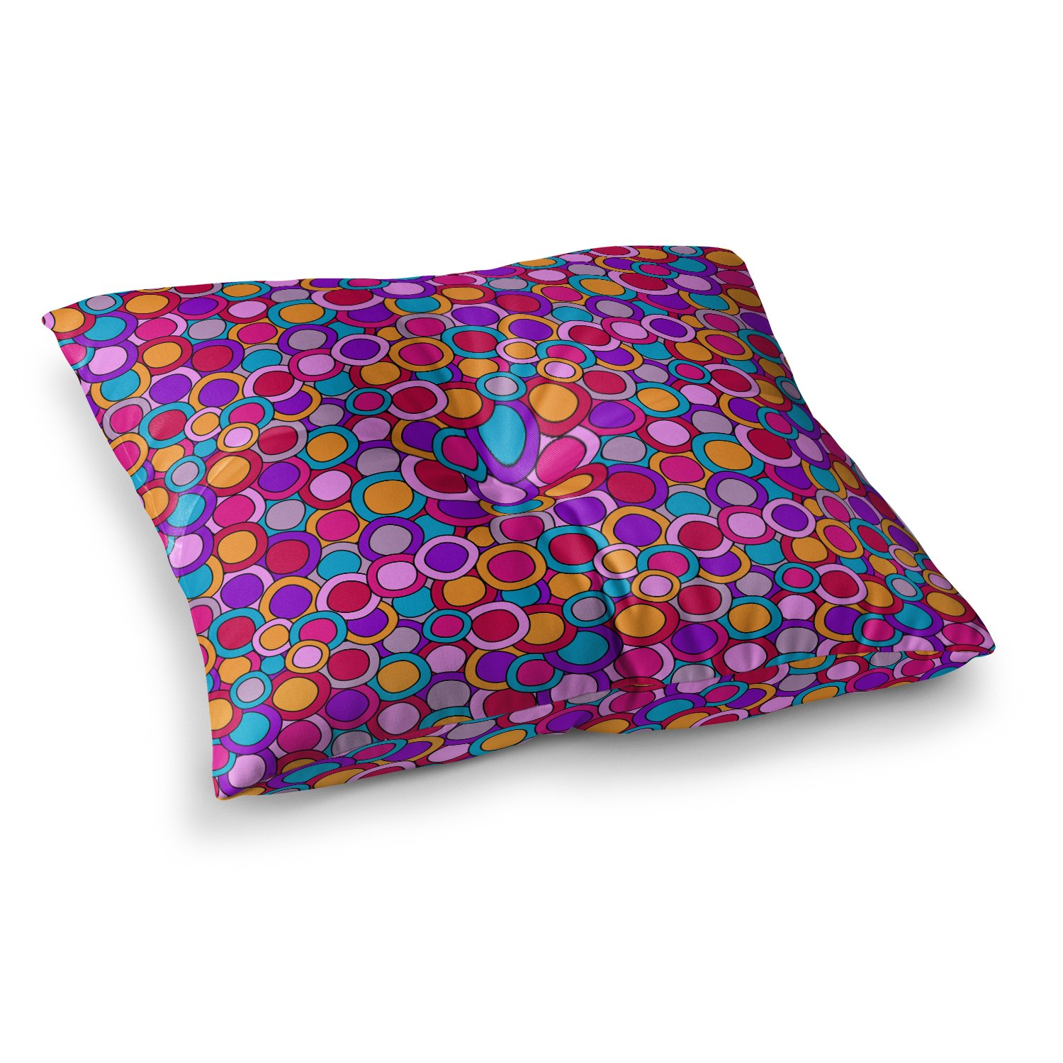 Kess InHouse Julia Grifol My Colourful Circles 26 x 26 Square Floor Pillow