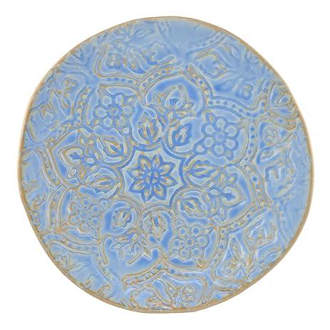 Merritt Artisan Tile 9.5-inch Melamine Dinner Plates Oceana Set of 6  sc 1 st  Amazon.com & Amazon.com | Merritt Artisan Tile 9.5-inch Melamine Dinner Plates ...