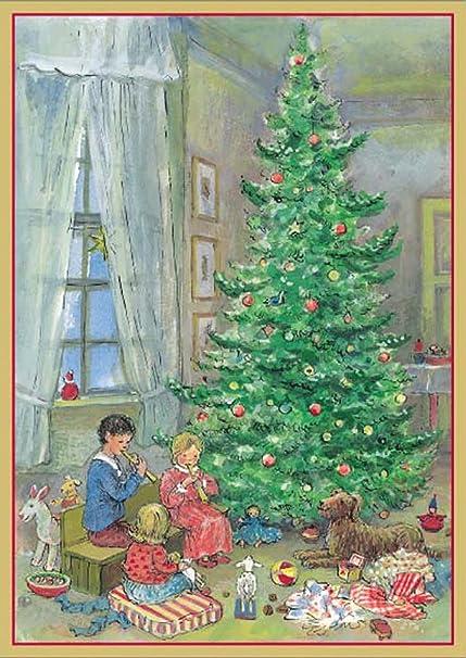 entertaining with casparichristmas morning christmas cards - Caspari Christmas Cards