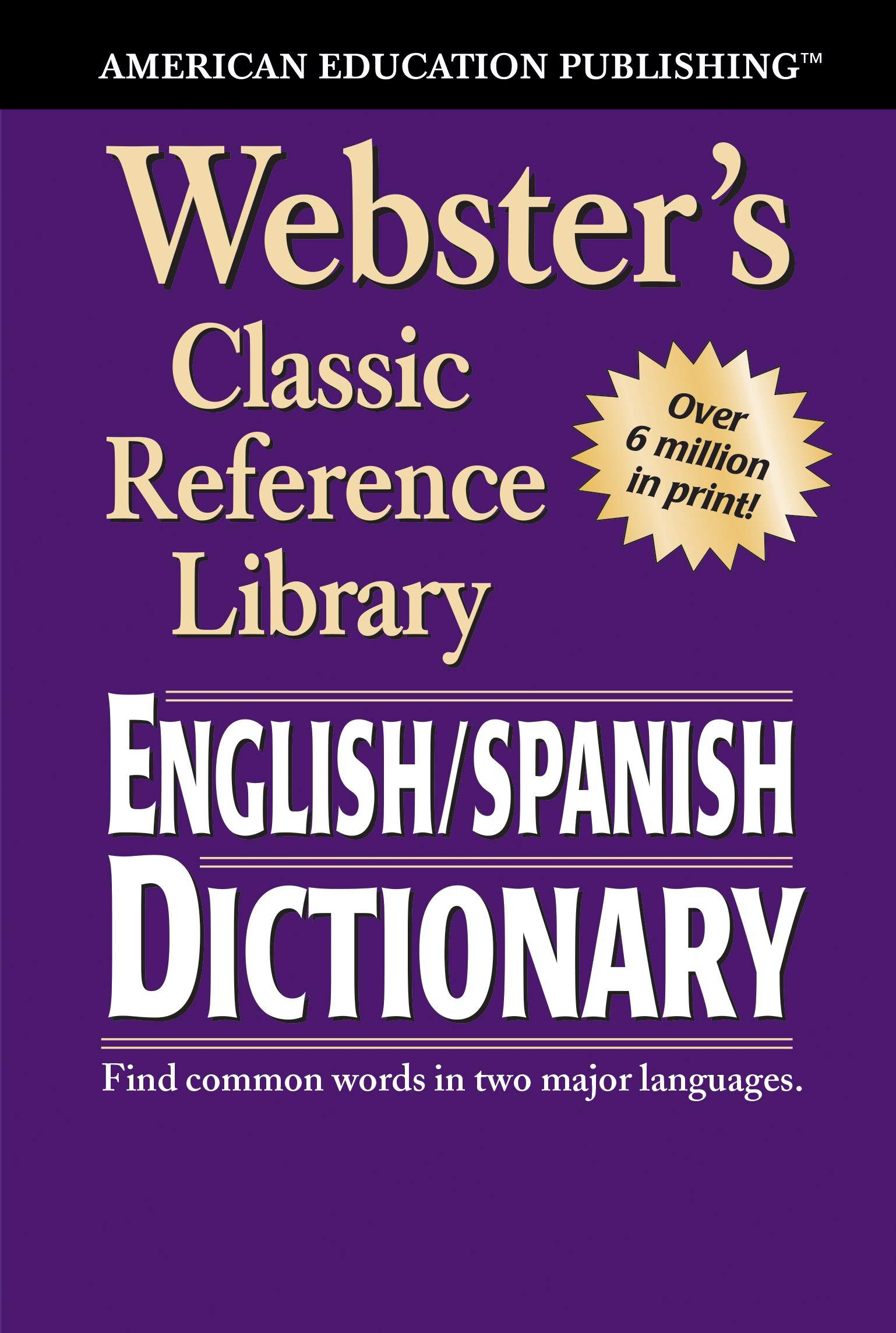 Amazon com: Webster's English SPANISH Dictionary