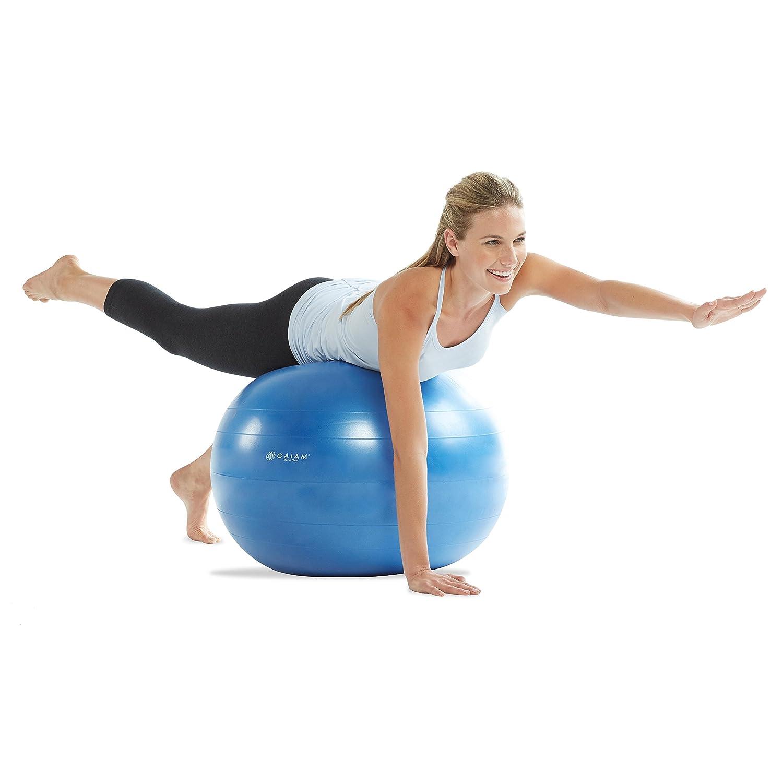 Amazon.com  Gaiam Total Body Balance Ball Kit - Includes 75cm Anti-Burst  Stability Exercise Yoga Ball 5cb129a8e07b