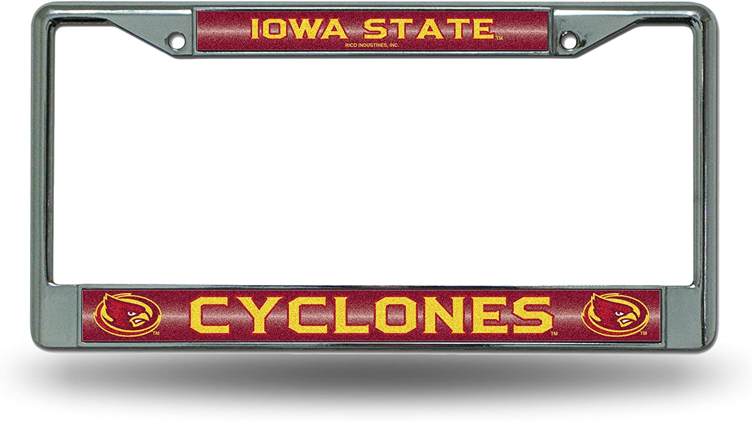 NCAA Rico Industries  #1 Fan Metal License Plate Tag Iowa State Cyclones