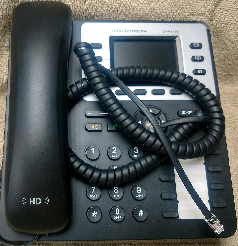 Lot of 10 Grandstream Flat Black 12 Ft Handset Phone Cord GXP GXV 1100 1400 1600 2100 2200 3000 Series by DIY-BizPhones