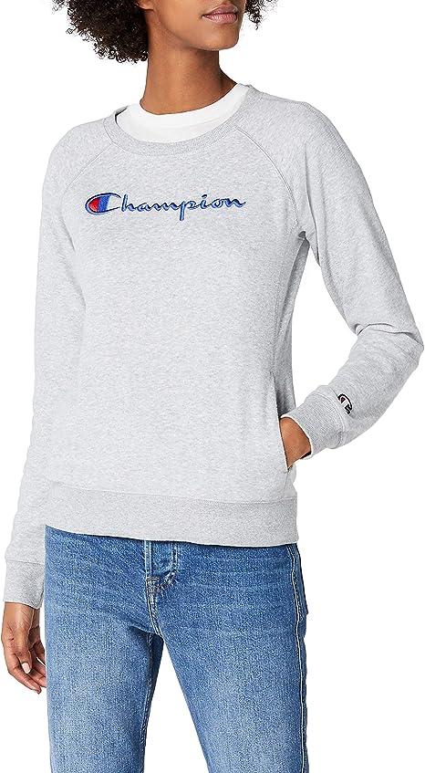 TALLA L. Champion Sudadera Classic Logo Mujer