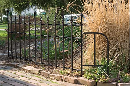 Amazon.com : Panacea Products Classic Finial Gate, Black : Garden Gate :  Garden U0026 Outdoor