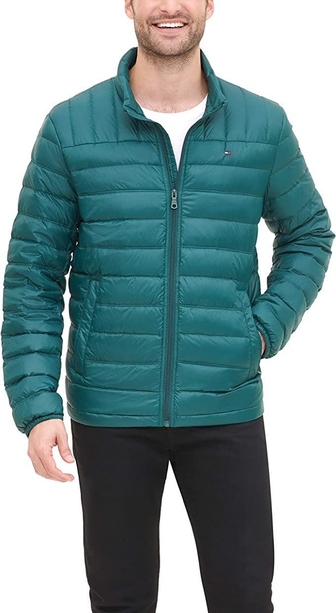 Tommy Hilfiger 汤米希尔费格 轻量可压缩 男士羽绒服 2.2折$43.78 海淘转运到手约¥369
